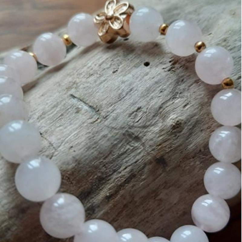 Bracelet Quartz Rose enfant - photo vitrine